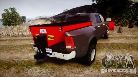 Dodge Ram 3500 Plow Truck [ELS] для GTA 4 вид сзади слева