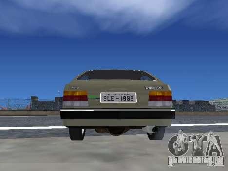 Chevrolet Chevette Hatch для GTA San Andreas вид изнутри