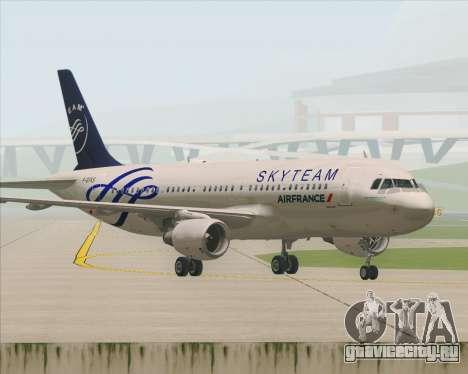 Airbus A320-200 Air France Skyteam Livery для GTA San Andreas вид снизу