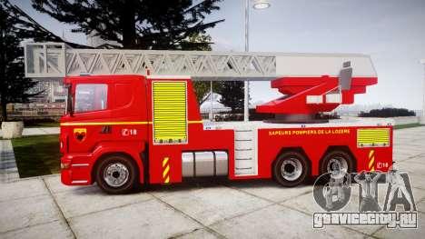 Scania R580 Paris Fireladder [ELS] для GTA 4 вид слева