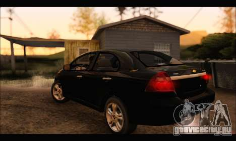 Chevrolet Aveo LT 2010 для GTA San Andreas вид слева
