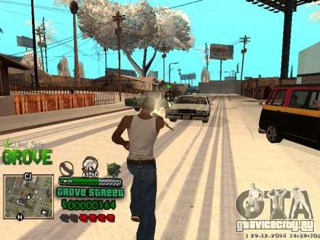 C-HUD Grove Street для GTA San Andreas восьмой скриншот