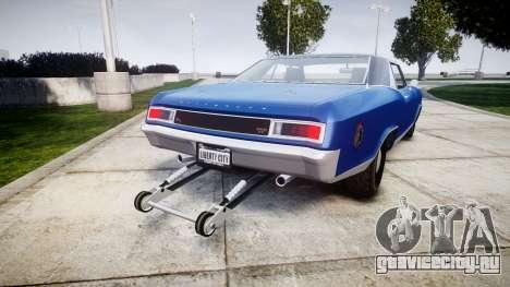 GTA V Albany Buccaneer Little Wheel для GTA 4 вид сзади слева