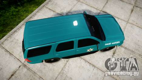 Chevrolet Tahoe 2013 Game Warden [ELS] для GTA 4 вид справа