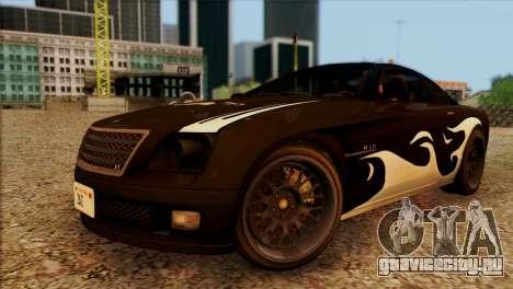 Schyster Fusilade Sport 1.0 (IVF) для GTA San Andreas вид сверху