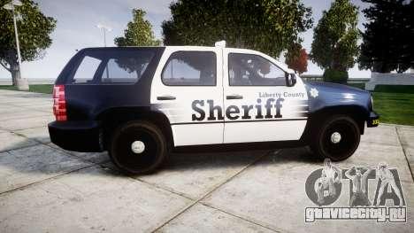 Chevrolet Tahoe 2013 County Sheriff [ELS] для GTA 4 вид слева