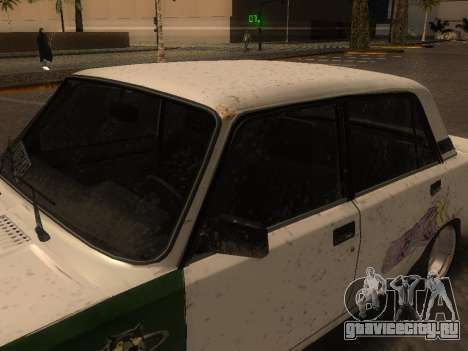 ВАЗ 2105 Ржавое корыто для GTA San Andreas вид сзади слева