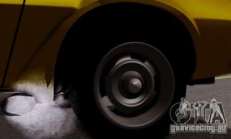 Chevrolet Camaro Mk.II для GTA San Andreas вид изнутри
