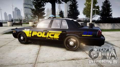 Ford Crown Victoria 2008 LCPD [ELS] для GTA 4 вид слева