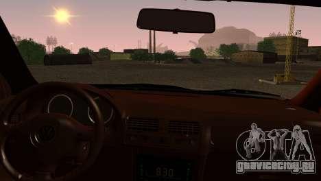 Volkswagen Bora для GTA San Andreas вид сзади слева