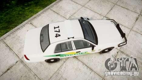 Ford Crown Victoria Martin County Sheriff [ELS] для GTA 4 вид справа