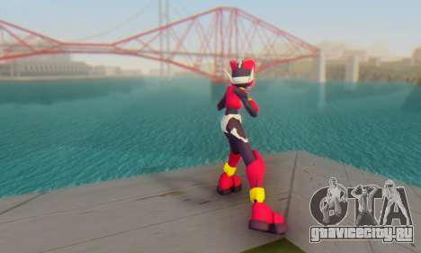Zero From Megaman X4 для GTA San Andreas третий скриншот