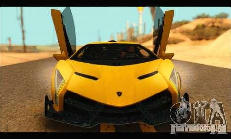 Lamborghini Veneno 2013 HQ для GTA San Andreas вид слева