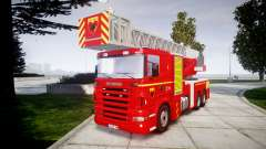 Scania R580 Paris Fireladder [ELS] для GTA 4