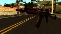 Тёмный АКС-74У v1 для GTA San Andreas