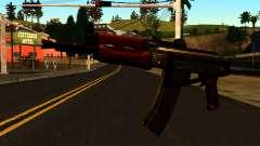 Темный АКС-74У v2 для GTA San Andreas