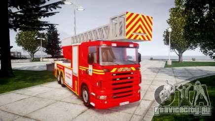 Scania R580 Marseille Fireladder [ELS] для GTA 4