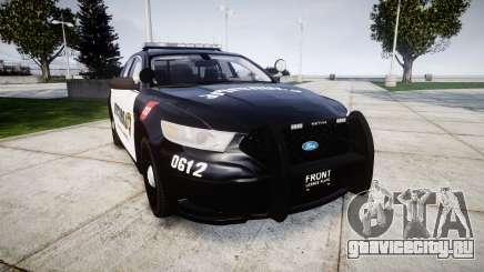 Ford Taurus 2013 Georgia Police [ELS] для GTA 4
