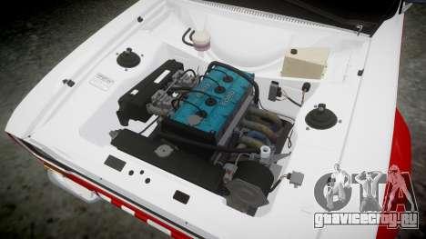 Ford Escort RS1600 PJ74 для GTA 4 вид сзади