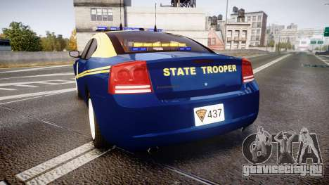 Dodge Charger West Virginia State Police [ELS] для GTA 4 вид сзади слева