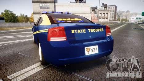 Dodge Charger West Virginia State Police [ELS] для GTA 4 вид сзади слева