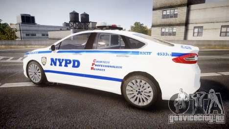 Ford Fusion 2014 NYPD [ELS] для GTA 4 вид слева