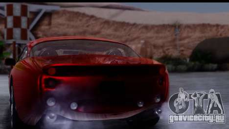 TVR Tuscan S 2001 для GTA San Andreas вид сбоку