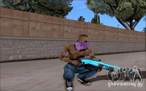 Blueline Gun Pack для GTA San Andreas