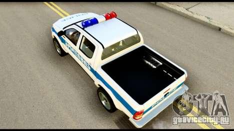 Toyota Hilux Georgia Police для GTA San Andreas вид сзади