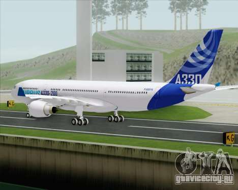 Airbus A330-200 Airbus S A S Livery для GTA San Andreas вид сзади