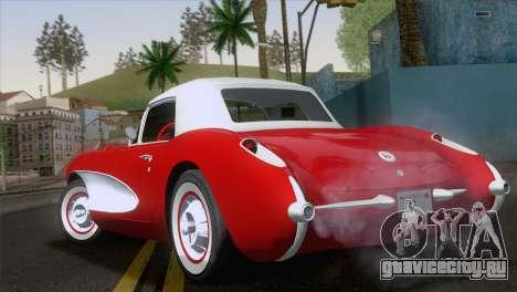 Chevrolet Corvette C1 1957 для GTA San Andreas вид слева