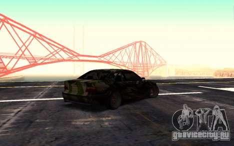 BMW M3 E36 Hunter для GTA San Andreas вид слева