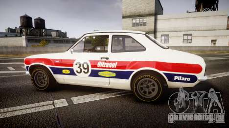 Ford Escort RS1600 PJ39 для GTA 4 вид слева