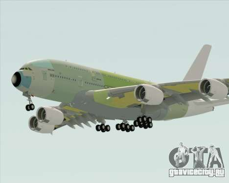 Airbus A380-800 F-WWDD Not Painted для GTA San Andreas вид справа