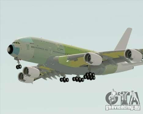Airbus A380-800 F-WWDD Not Painted для GTA San Andreas вид справа