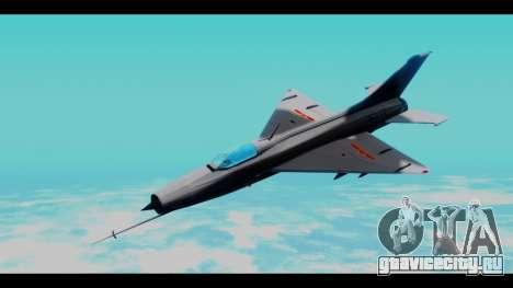 MIG-21 China Air Force для GTA San Andreas вид сзади слева