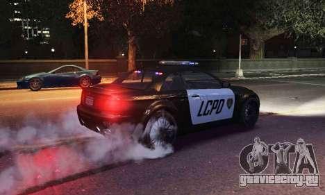 GTA V Ubermacht Sentinel Police [ELS] для GTA 4 вид справа