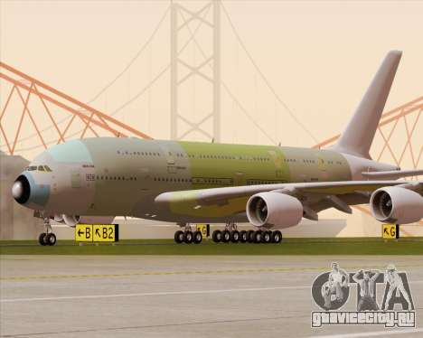 Airbus A380-800 F-WWDD Not Painted для GTA San Andreas вид сверху