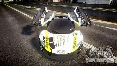 McLaren P1 2014 [EPM] Ken Block для GTA 4 вид изнутри
