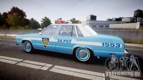 Ford Fairmont 1978 Police v1.1 для GTA 4 вид слева