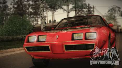 Pontiac Turbo Trans Am 1980 Bandit Edition для GTA San Andreas