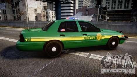 Ford Crown Victoria Sheriff [ELS] green для GTA 4 вид слева