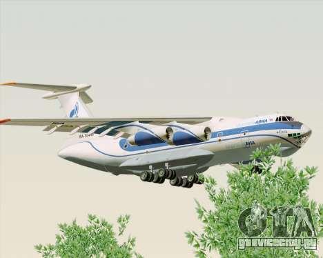 ИЛ-76ТД Газпром авиа для GTA San Andreas вид сзади слева