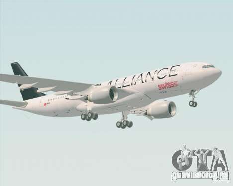 Airbus A330-200 SWISS (Star Alliance Livery) для GTA San Andreas вид слева