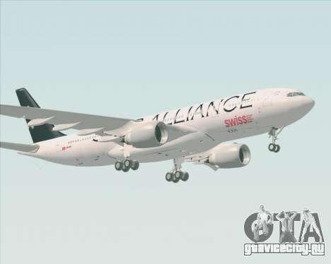 Airbus A330-200 SWISS (Star Alliance Livery) для GTA San Andreas вид слева