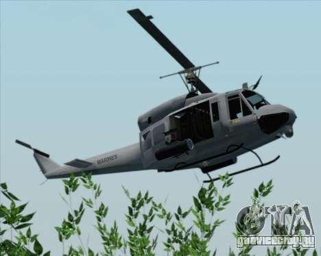 Bell UH-1N Huey USMC для GTA San Andreas вид сзади