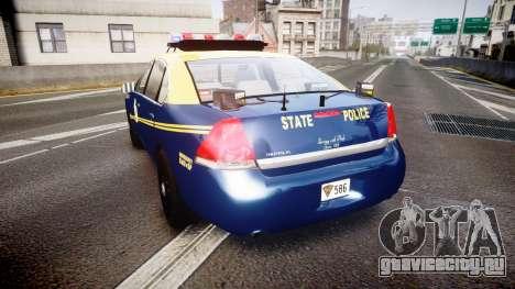 Chevrolet Impala West Virginia State Police ELS для GTA 4 вид сзади слева