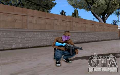 Blueline Gun Pack для GTA San Andreas третий скриншот