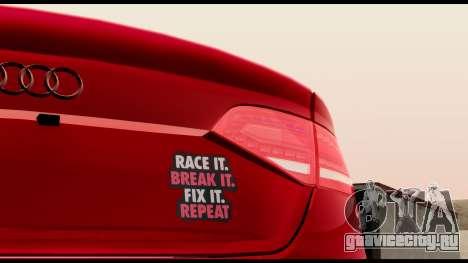 Audi S4 2010 Blacktop для GTA San Andreas вид сзади