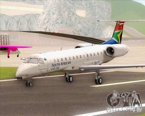 Embraer ERJ-135 South African Airlink для GTA San Andreas вид сзади слева